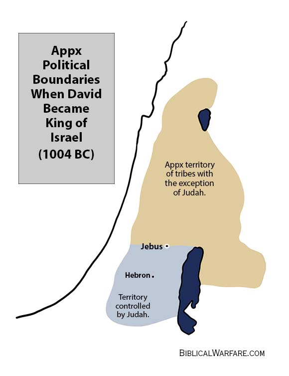 Jebus and political boundaries between tribes of Israel and Judah before Jebus become the City of David.